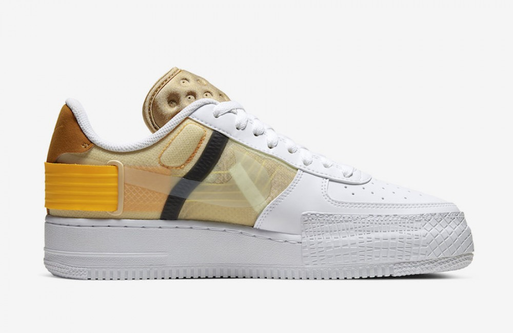 Nike AF1 Type Blanche Or Jaune AT7859-100 - hightheone.com