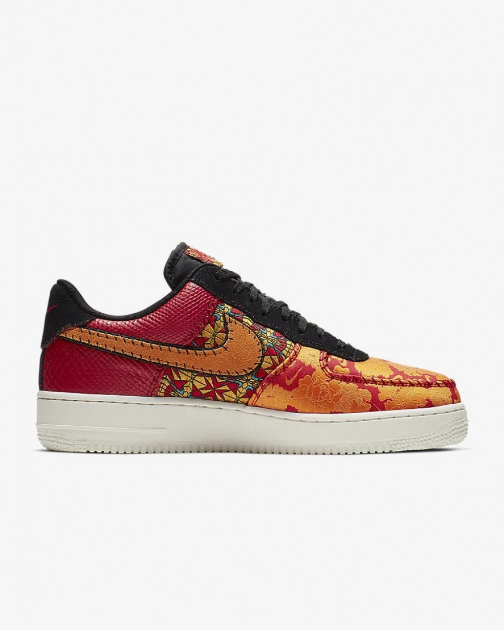 air force 1'07 blanche rouge et or femme