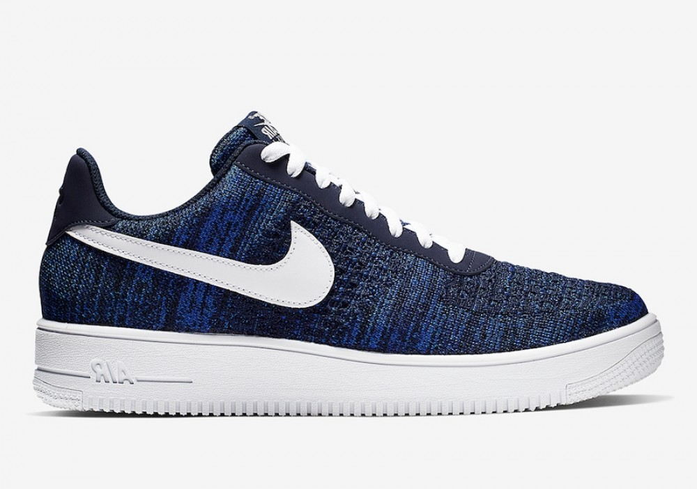nike air force 1 flyknit bleu