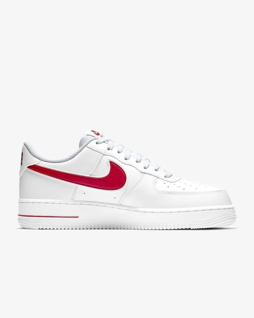 nike air force 1'07 blanche rouge et or femme