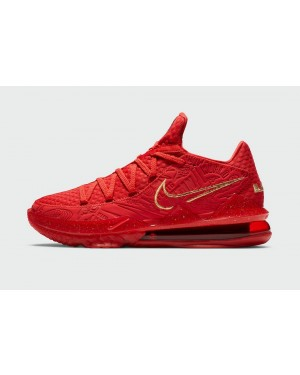 Titan x LeBron 17 Low - Rouge/Métallique Or - Nike - CD5008-600