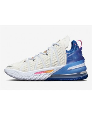 """Nike LeBron 18 """"Los Angeles By Day"""" Blanche DB8148-200"""