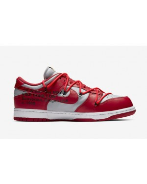 Off-White x Nike Dunk Low Rouge/Rouge-Gris CT0856-600