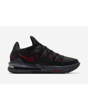 Nike LeBron 17 Low Noir Rouge Gris - CD5007-001