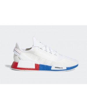 adidas NMD R1 Blanche Rouge Bleu - FX4148