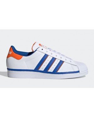 adidas Superstar Rivalry Blanche Bleu Orange FV2807