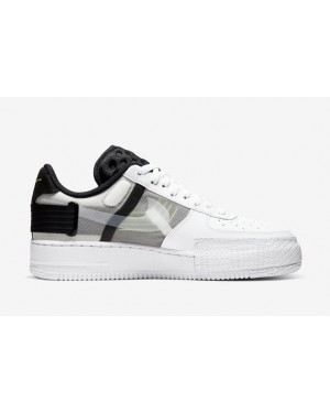 Nike Air Force 1 Type Blanche Noir Volt AT7859-101