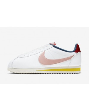 Nike Cortez Blanche/Rouge-Jaune-Coral Stardust 807471-114