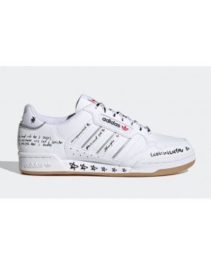 """Adidas Continental 80 """"Sharpie Pack"""" Blanche/Gris-Rouge GV9797"""