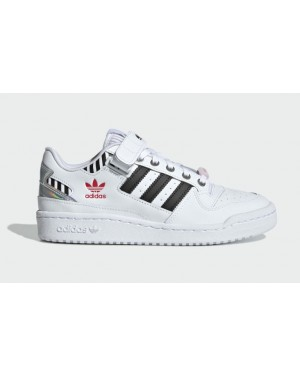 Adidas Forum Low Blanche/Noir-Rose FZ3908