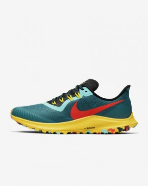 Nike Air Zoom Pegasus 36 Trail AR5677-301 Geode Teal/Noir/Jaune/Bright Crimson
