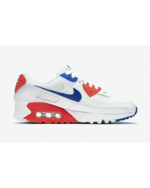 "Nike Air Max 90 ""Ultramarine"" CT1039-100 Blanche/Ultramarine-Rouge"