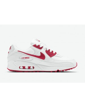 "Nike Air Max 90 ""Rouge"" CT1028-101 Blanche/Rouge"
