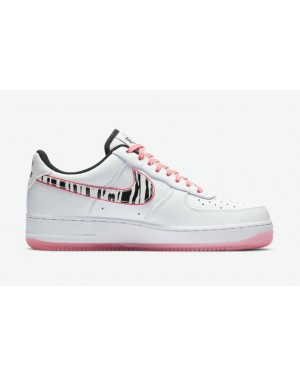"""Nike Air Force 1 """"Blanche Tiger"""" CW3919-100 Blanche/Noir-Multi-color"""
