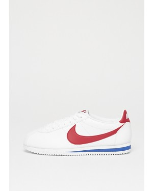 Nike Femme Classic Cortez Leather Blanche/Rouge-Varsity Royal 807471-103
