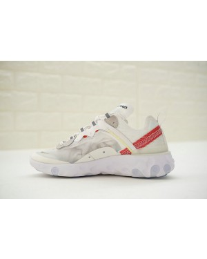 Undercover x Nike React Element 87 Blanche/Cream/Rouge AQ1813-345