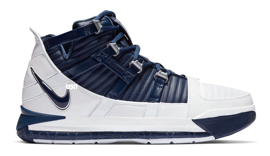 Nike LeBron 3 Blanche Navy Release Date AO2434-103