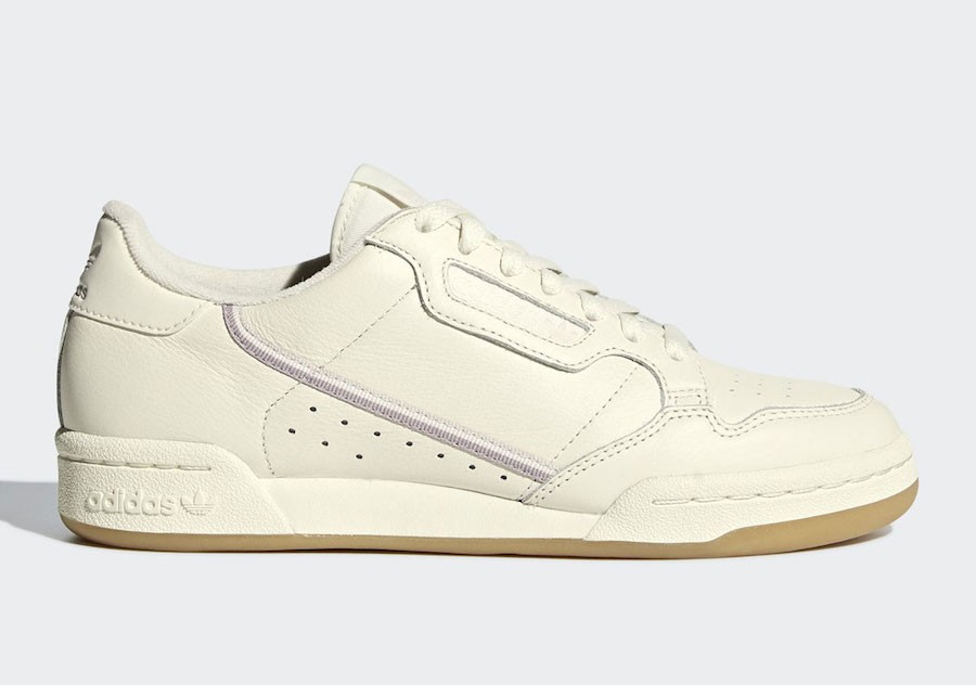 adidas Continental 80 Blanche/Orchid Tint-Soft Vision G27718