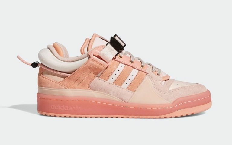 """Bad Bunny x Adidas Forum Buckle Low """"Easter Egg"""" Rose GW0265"""