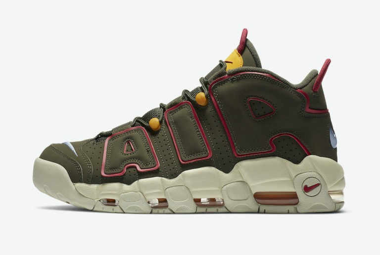 Nike Air More Uptempo Olive/Rouge DH0622-300