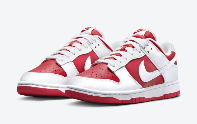 Nike Dunk Low Blanche Rouge DD1391-600
