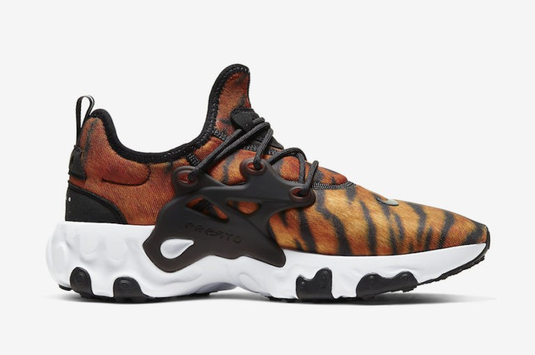 "Nike React Presto PRM ""Tiger"" Magma Orange/Blanche-Noir CN7664-800"