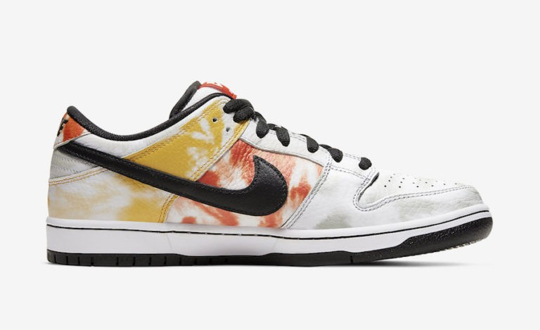 "Nike SB Dunk Low ""Raygun Tie-Dye"" Blanche/Orange BQ6832-101"