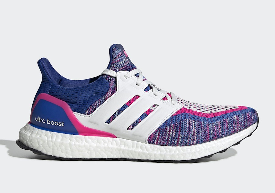 adidas Ultra Boost Multicolore Blanche Bleu Rose EG8107
