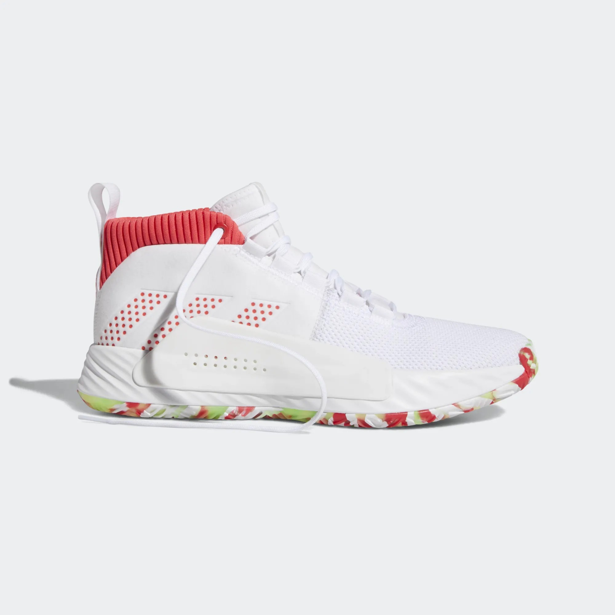 adidas Dame 5 All Skate New Homme Basketball Chaussures Blanche BB9312