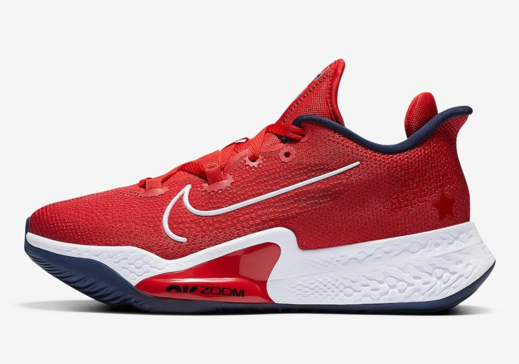 """Nike Air Zoom BB NXT """"USA"""" Rouge/Obsidian-Blanche CK5707-600"""