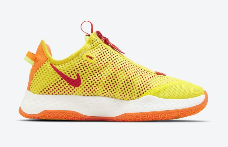 "Nike PG 4 ""Pickled Pepper"" Jaune/Orange CD5082-601"