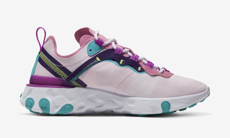Nike Femme React Element 55 Rose Sneakers BQ2728-603