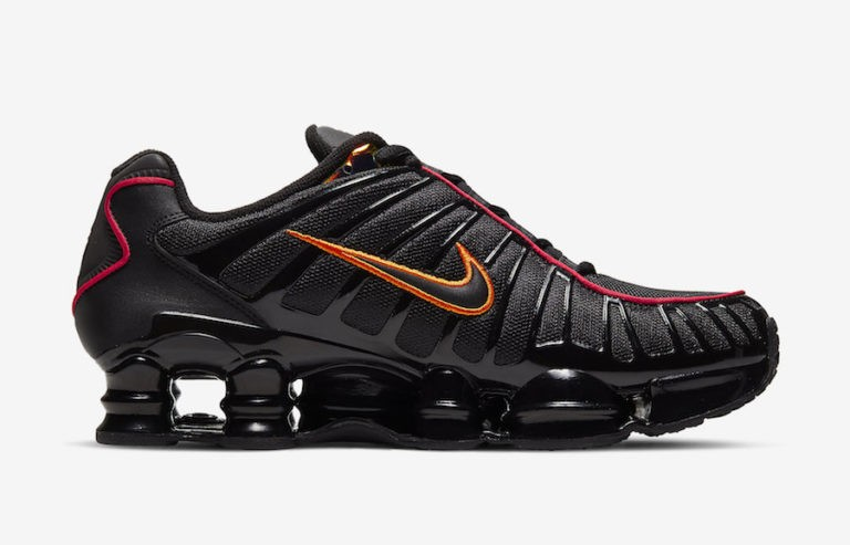 Nike Shox TL Noir Rouge Orange CV1644-001