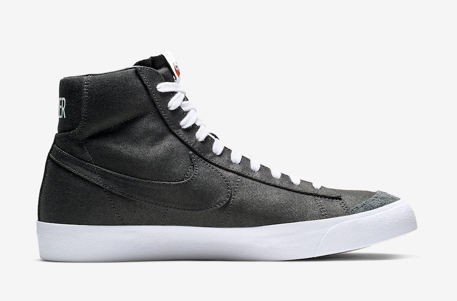 Nike Blazer Mid Noir Canvas | CD8238-001