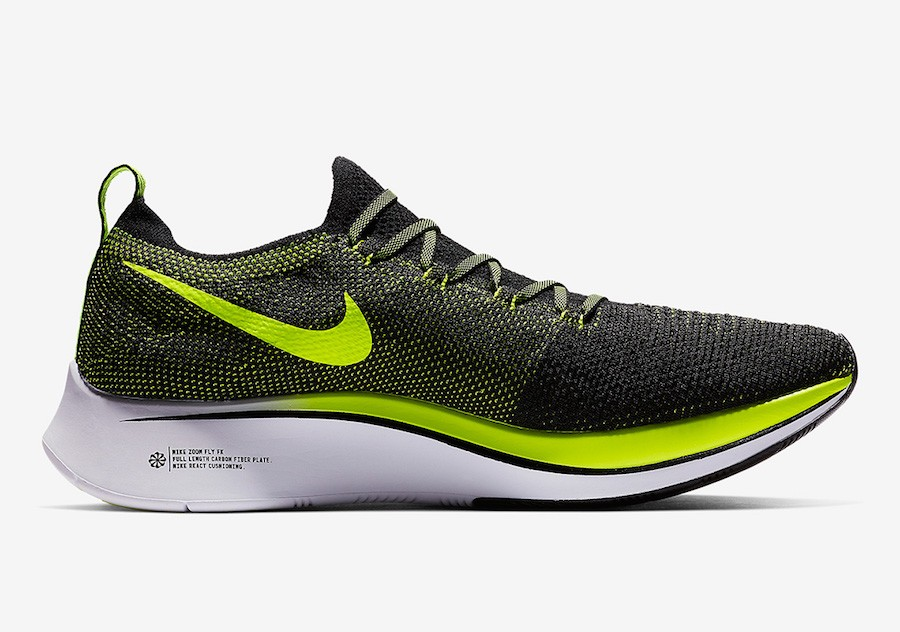 Nike Zoom Fly Flyknit Noir Volt Blanche Homme BV6103-002