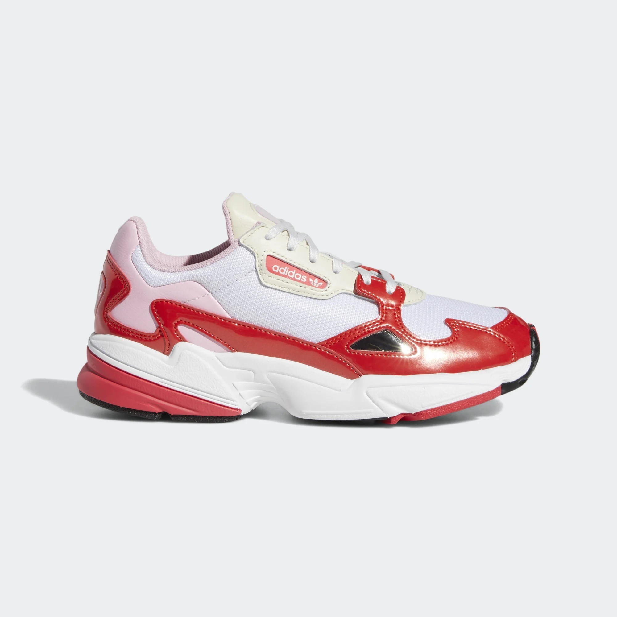 Adidas Femme Originals Falcon Chaussures Blanche/Rouge EE3830
