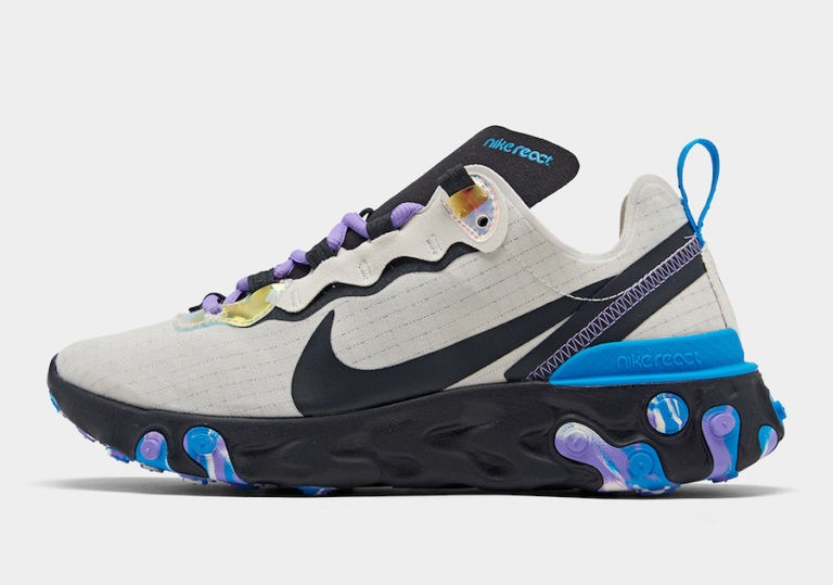 React Element 55 Off Noir/Bleu-Amethyst Tint - CT1612-001 - Nike