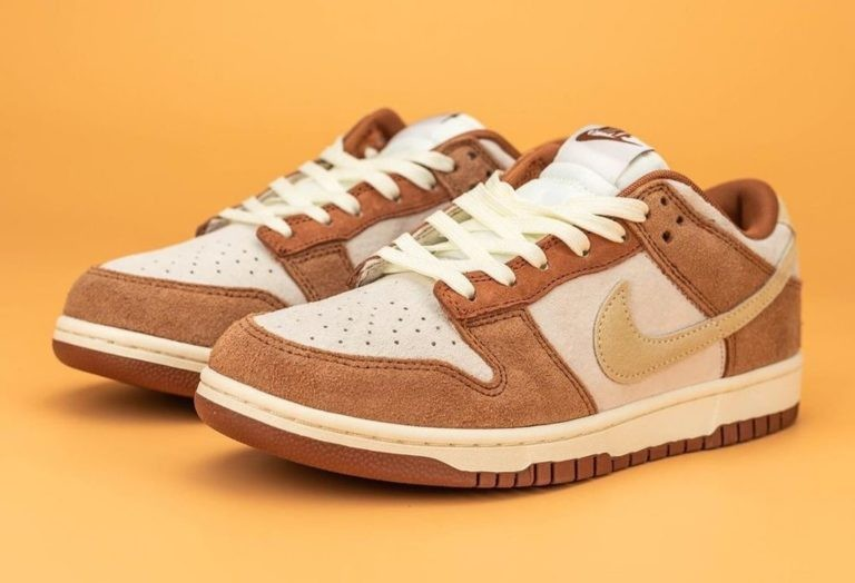 "Nike Dunk Low PRM ""Medium Curry"" Sail/Medium Curry-Fossil DD1390-100"