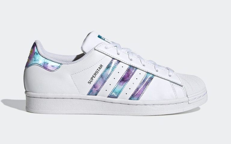 """Adidas Superstar """"Abalone"""" Blanche/Violet-Active Teal GZ5217"""