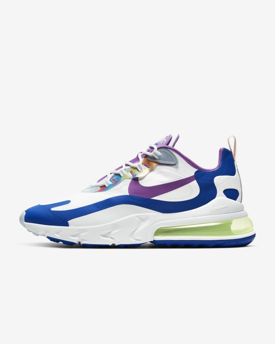 Nike Air Max 270 React Easter CW0630-100 Blanche/Washed Coral/Bleu/Violet