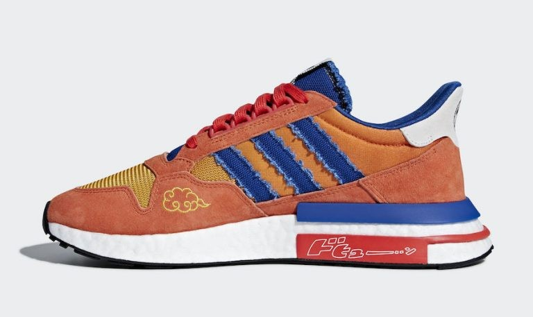 "Dragon Ball Z x Adidas ZX 500 RM ""Son Goku"" Orange/Bleu-Rouge D97046"