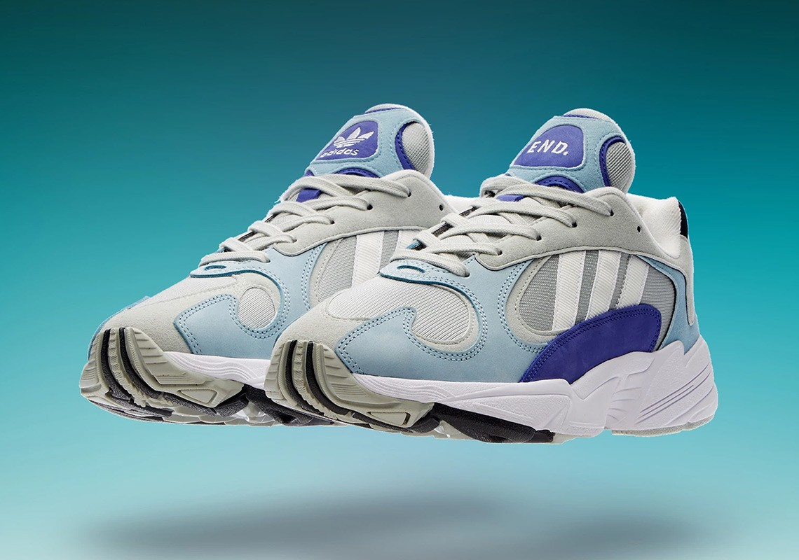"End Clothing x Adidas Yung-1 ""Atmosphere"" Argent/Blanche-Bleu G27635"