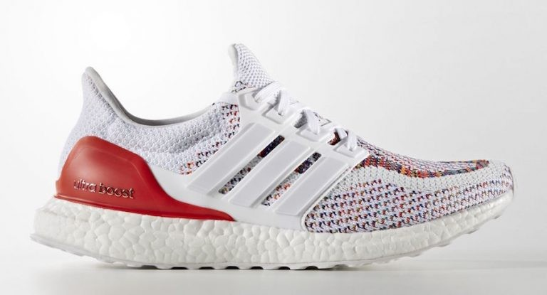 "Adidas Ultra Boost ""Multicolore 2.0"" Blanche/Blanche-Rouge BB3911"