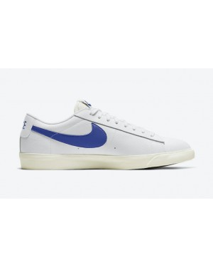 "Nike Blazer Low Leather ""Bleu"" Blanche CI6377-107"