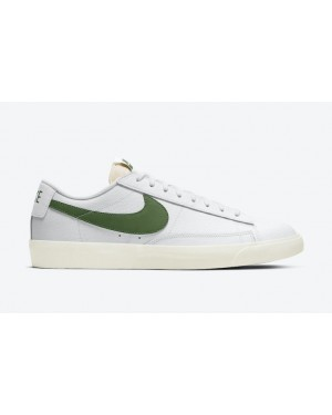 "Nike Blazer Low Leather ""Vert"" Blanche CI6377-108"