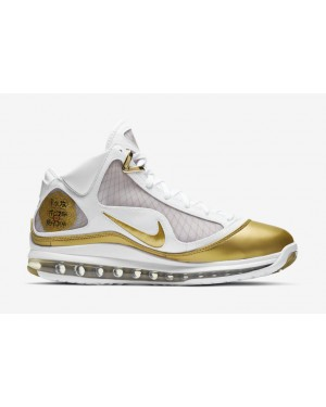 "Nike LeBron 7 ""China Moon"" Blanche/Blanche/Métallique Or CU5646-100"