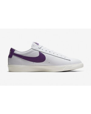 Nike Blazer Low Leather Blanche Violet - CI6377-103