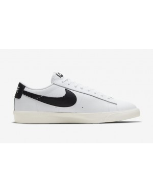 CI6377-101 Nike Blazer Low Leather Blanche Noir