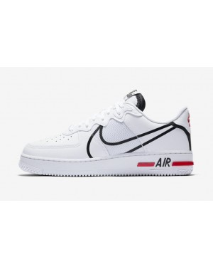 Nike Air Force 1 React Blanche Noir Rouge - CD4366-100