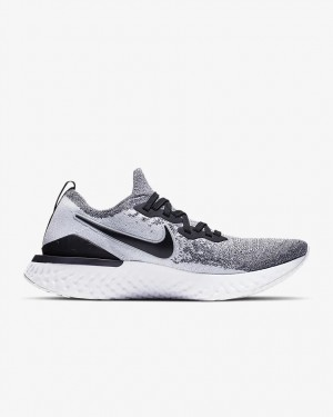 NIKE Epic React Flyknit 2 BQ8928-101 Blanche/Noir Authentic